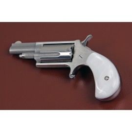 .22LR. North American Arms Mini Derringer Imitation White Pearl Grips