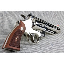 S&W N Frame Square Butt - Walnut Heritage Panel Grips - CHECKERED