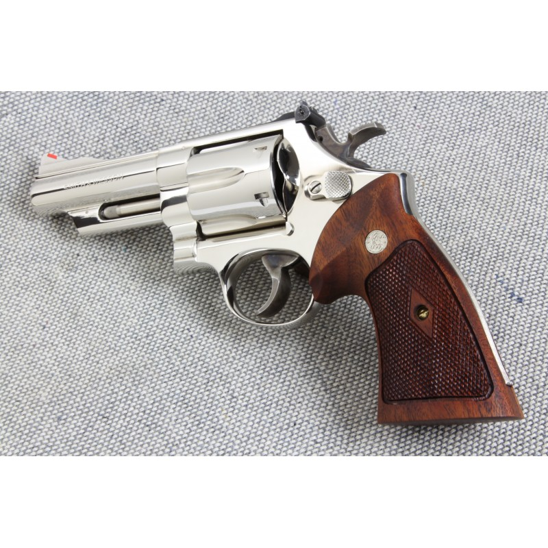 S&W N Frame Sq. Butt WALNUT CHECKERED Heritage Grips with reclaimed ...