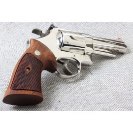 S&W N Frame Square Butt Walnut Heritage Grips - CHECKERED w/Reclaimed Medalions