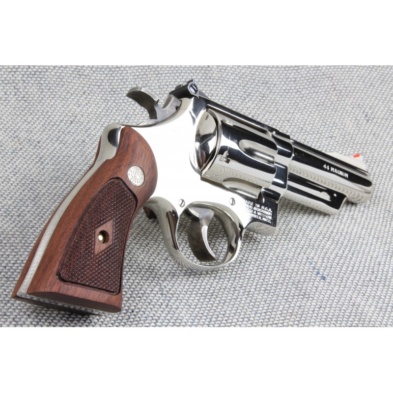 S&W K/L Frame Square Butt Walnut Heritage Panel Grips Checkered w ...
