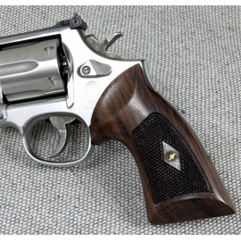 S&W N Square Frame Heritage Compact Revolver Grips Checkered