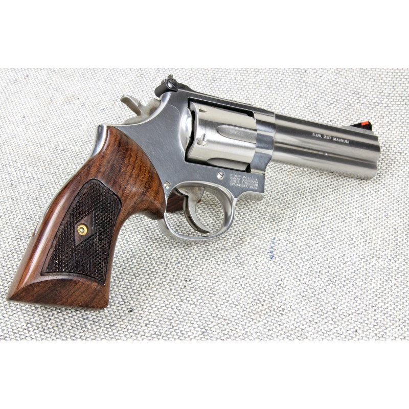 S&W K & L Frame Rnd. Butt Heritage Compact Checkered Revolver Grips