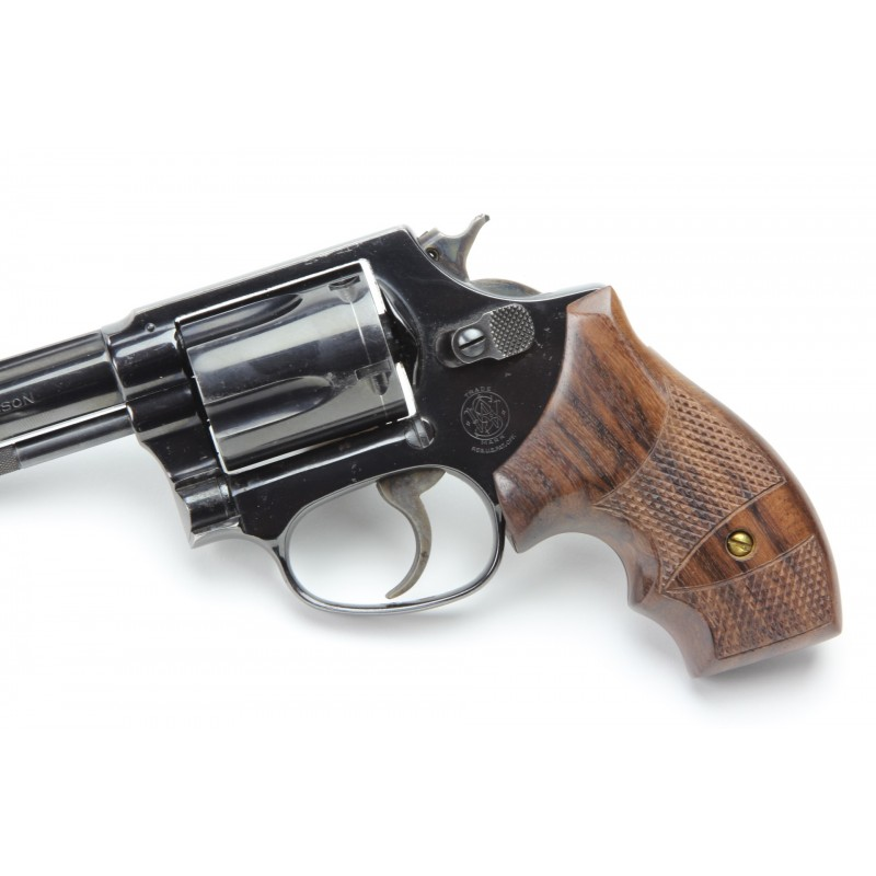 ... S&W J Round Frame Secret Service Rosewood Grips Checkered ...