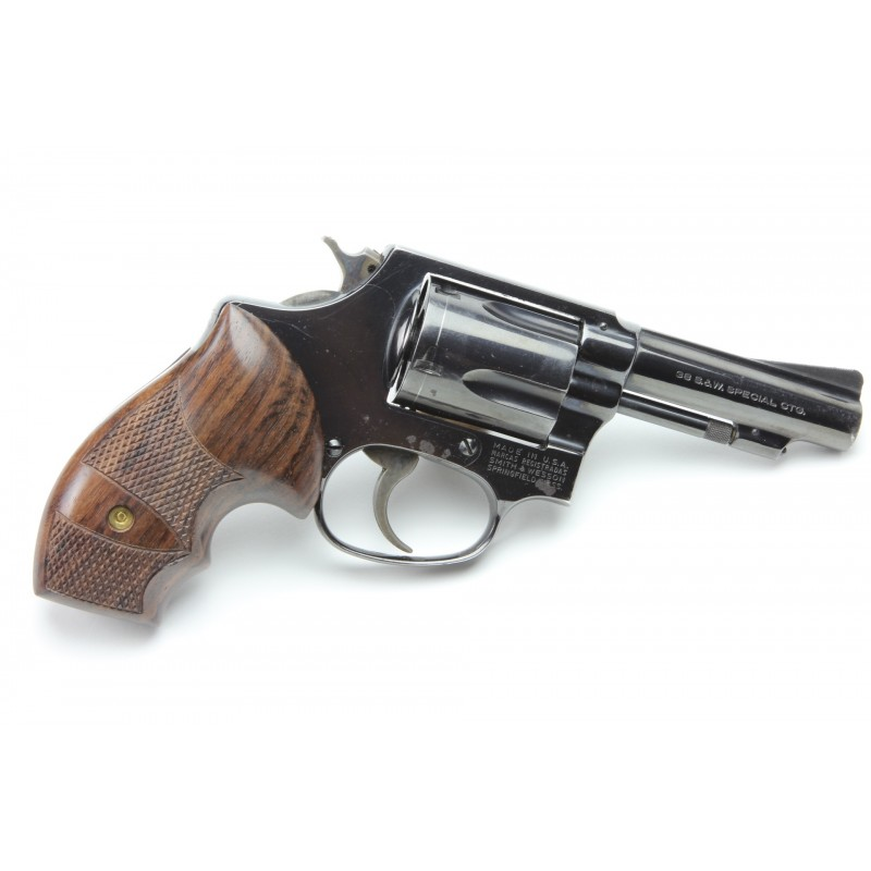 S&W J Frame Round Butt Secret Service Rosewood Grips Checkered