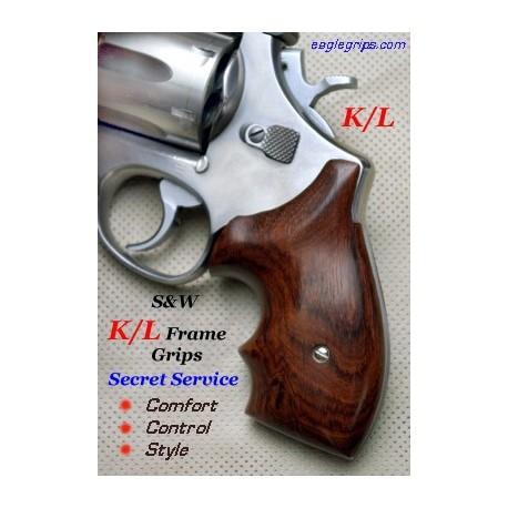 K/L Frame Rnd. Butt Rosewood Secret Service Grips Smooth