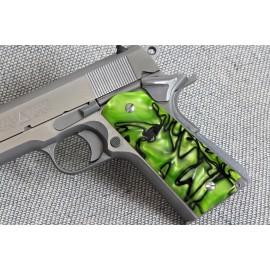 1911 Officer's Compact Kirinite® Toxic Green Grips