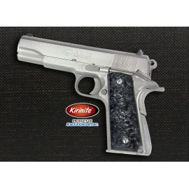 1911 Officer's Compact Kirinite® Arctic Black Ice Grips