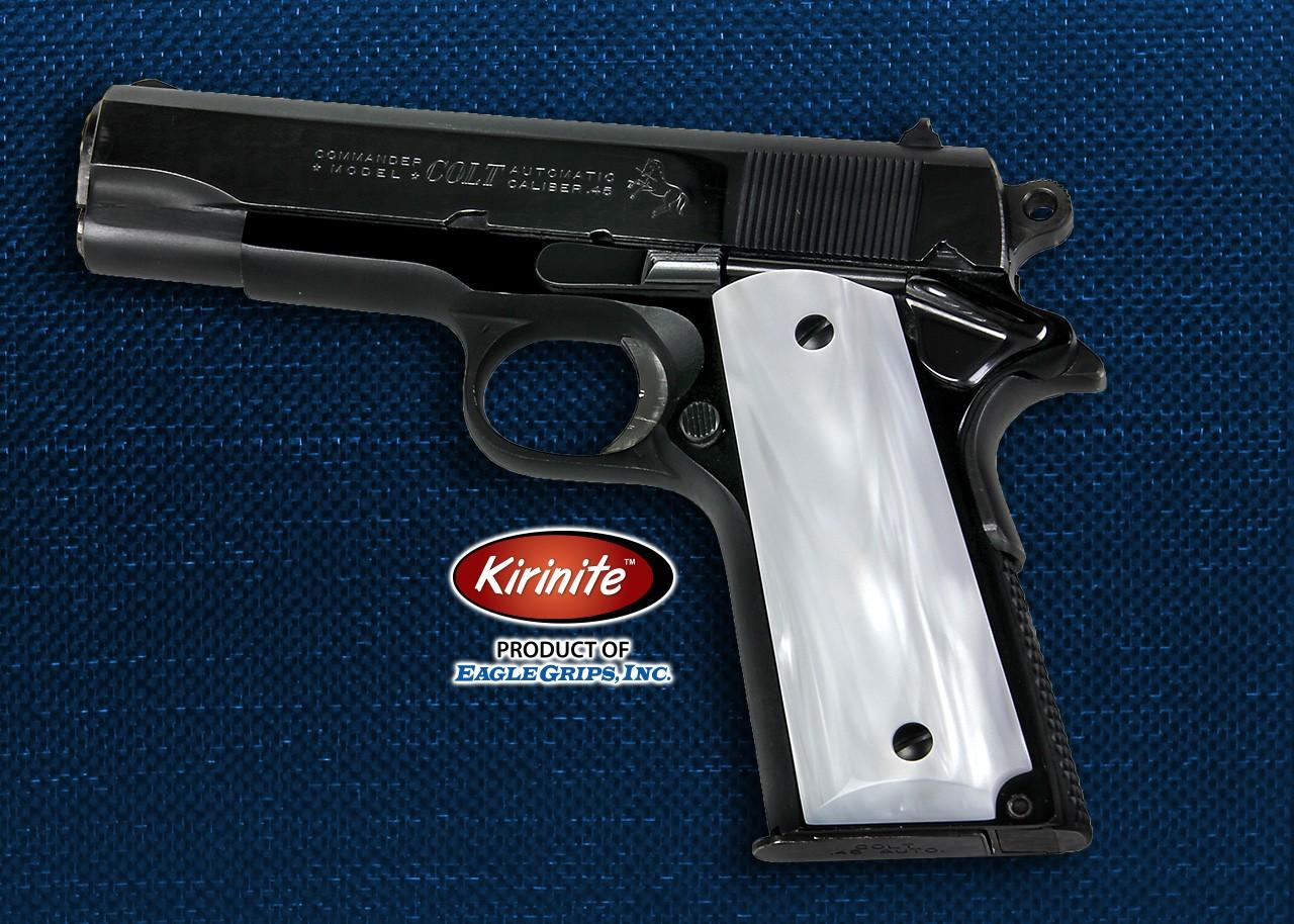 Colt Officers Model 1911 Kirinite™ WHITE PEARL Grips