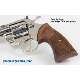 Colt Python (2nd Type) Walnut Heritage Grips - CHECKERED