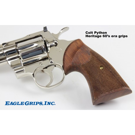 Colt Python Rosewood 60's era Heritage Checkered Grips