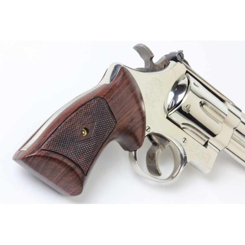 S&W K/L Frame Square Butt Heritage Compact Revolver Grips Checkered