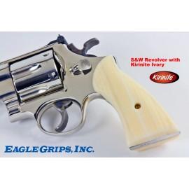 S&W N Frame Square Butt - Kirinite IMITATION IVORY Revolver Grips