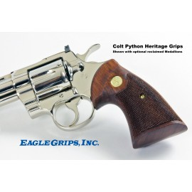 "Colt Python ""Second Type"" - Walnut Heritage Grips - CHECKERED"
