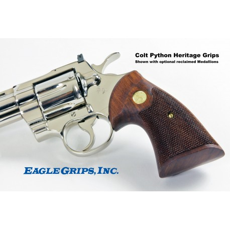 Colt Python Rosewood Medallion 60's era Heritage Checkered Grips