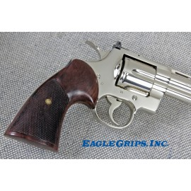 "Colt Python ""Third Type"" Rosewood Heritage Grips - CHECKERED"