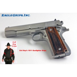 1911 Evil Roy's Gunfighter Grips Rosewood CHECKERED