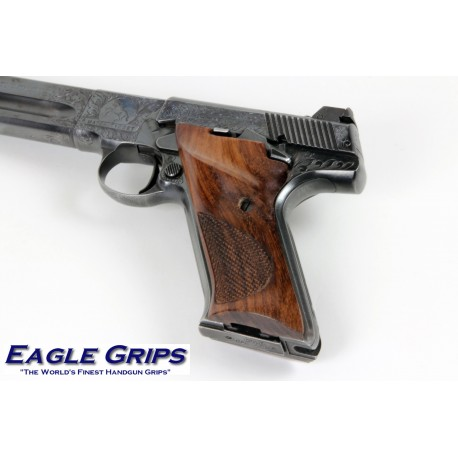 Colt Woodsman 3rd. Gen. Rosewood CHECKERED Thumb rest Grips