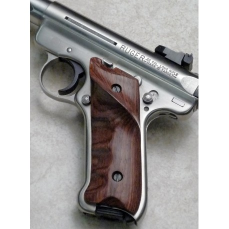 Ruger MKII Thumbrest Rosewood Grips Smooth