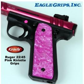 Ruger 22/45 MKIII .22LR. Pink Kirinite Grips
