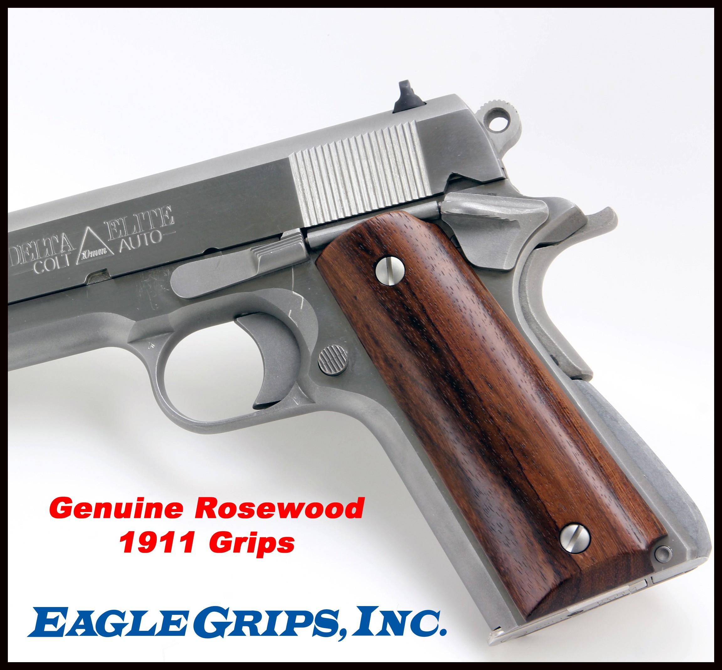1911 Genuine Rosewood Panel Grips Smooth