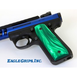 Ruger 22/45 .22LR. Green Pearl Kirinite Grips