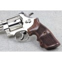 S&W K/L Frame Round Butt - GENUINE ROSEWOOD Finger Position Grips - CHECKERED