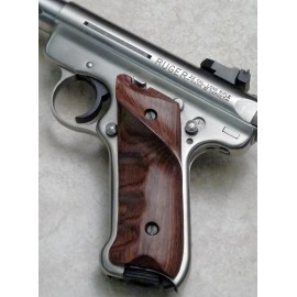 Ruger Checkered Rosewood Thumbrest Grips
