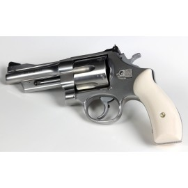 S&W N Frame Round Butt - Ultra Imitation Ivory Traditional Revolver Grips