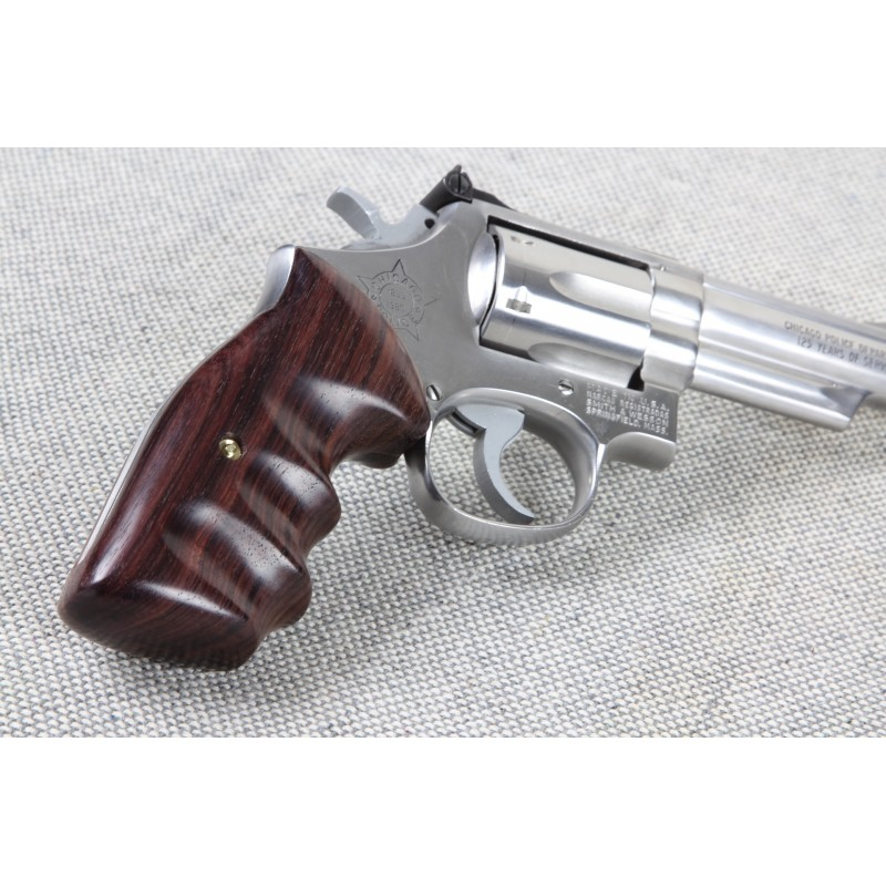 Combat - S&W N Frame Square Butt Rosewood Smooth Grips