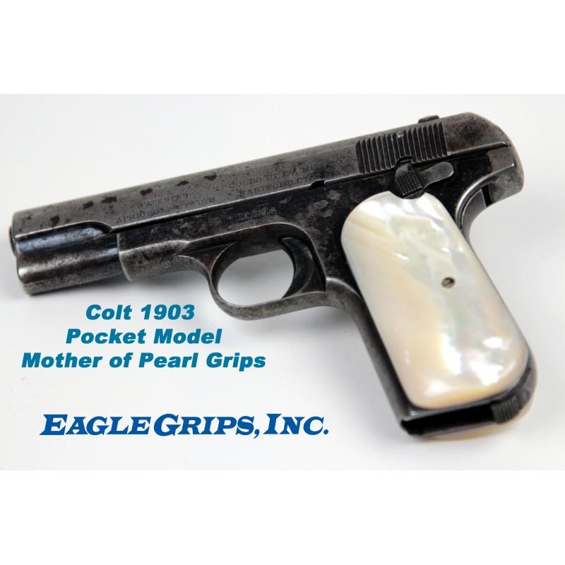 Colt Pocket (1903)  32/ 380 Grips - Genuine Pearl