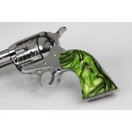 Ruger New Vaquero - Kirinite™ Toxic Green Gunfighter Grips