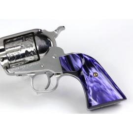 Ruger New Vaquero - Kirinite™ Purple Perfection Gunfighter Grips