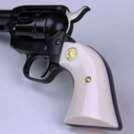 Colt .22 New Frontier ULTRA IMITATION IVORY Grips - SMOOTH w/medallions