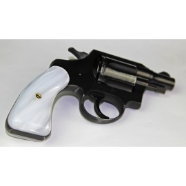 Colt Pre 66 D-Frames - Kirinite White Panel Panel Grips - SMOOTH