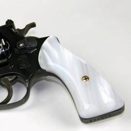 S&W J Frame Square Butt - Kirinite White Pearl Revolver Grips