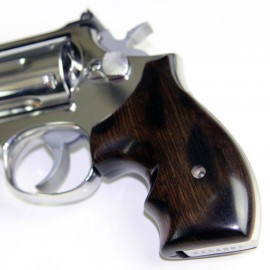 S&W K/L Frame Round Butt Ebony Secret Service Revolver Grips - SMOOTH