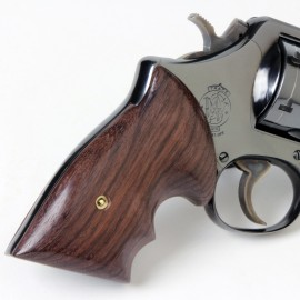 S&W N Frame Square Butt - GENUINE ROSEWOOD Secret Service Grips - SMOOTH