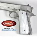 Kirinite™ WHITE PEARL Grips for the 1911