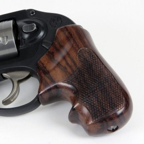 Ruger Lcr Secret Service Checkered Rosewood Grips