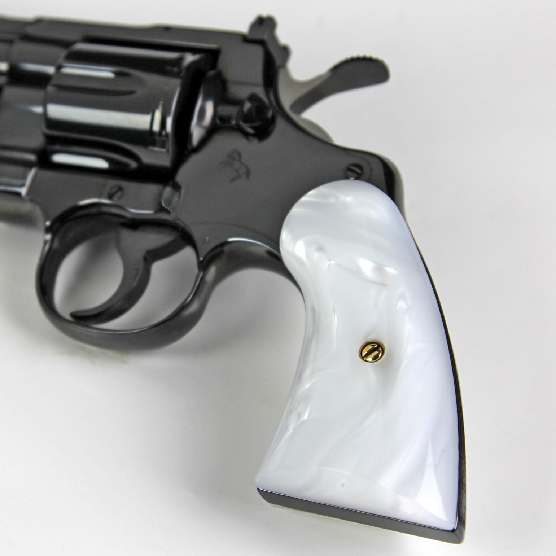 Colt Python Kirinite White Pearl Panel Grips Colt Python Kirinite White  Pearl Panel Grips