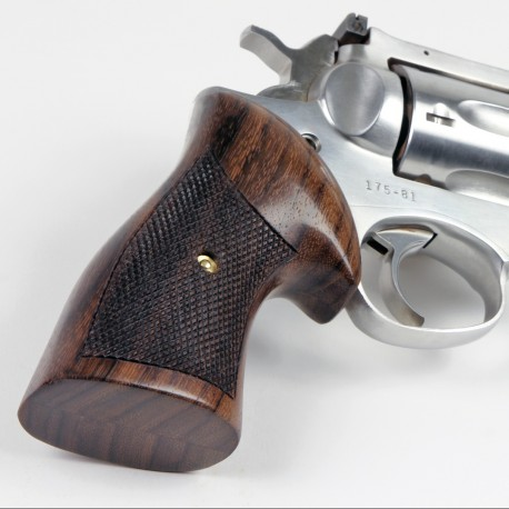 Ruger GP100 & Super Redhawk Classic Rosewood Checkered Grips