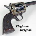 Virginian Dragoon GENUINE ROSEWOOD Revolver Grips - CHECKERED