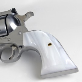 """Ruger """"Old"""" Vaquero Traditional Kirinite® White Pearl Smooth Grips"""