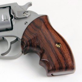 Charter Arms Bulldog GENUINE ROSEWOOD Secret Service Grips - SMOOTH