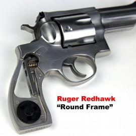 Ruger Redhawk Round Butt Kirinite White Pearl Panel Grips - SMOOTH