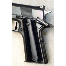Black 1911 Semi Auto Grips Smooth