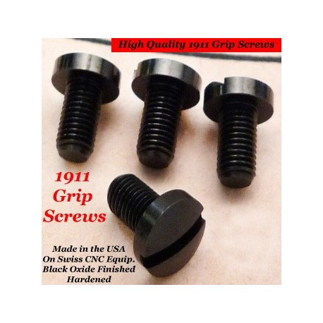 Flat Black Matte 1911 Grip Screw Set