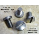 1911 Series Grip Screw Set - Brushed Nickel Matte