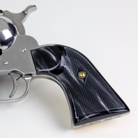 Ruger New Vaquero Kirinite® Black Pearl Gunfighter Grips Checkered